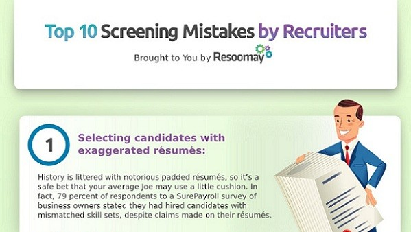 10 Screening Mistakes Recruiters Make [INFOGRAPHIC]