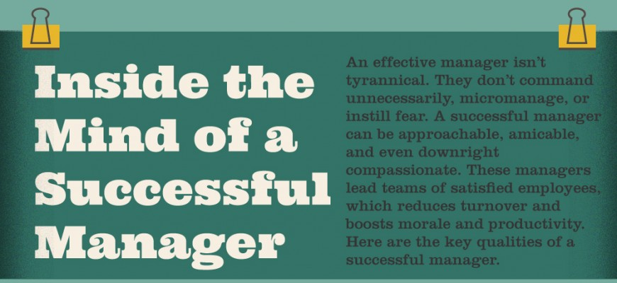 Inside the Mind of a Successful Manager [INFOGRAPHIC]