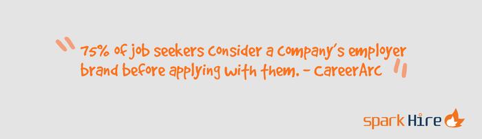 Spark-Hire-75-Percent-Job-Seekers-Consider-Company-Brand