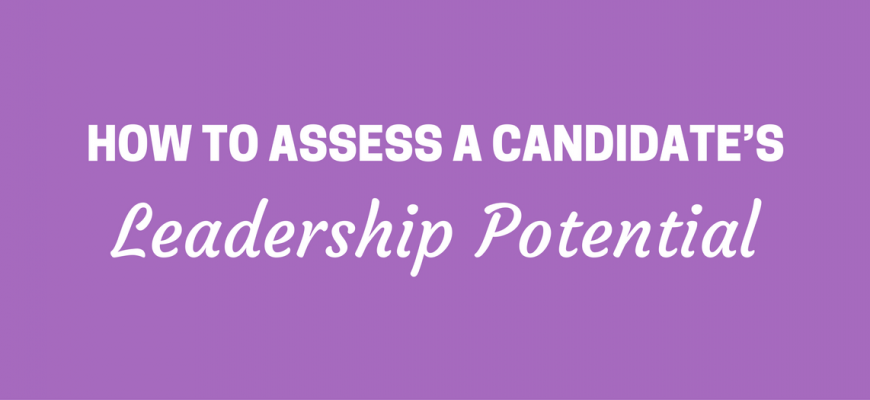 Candidate's Leadership Potential