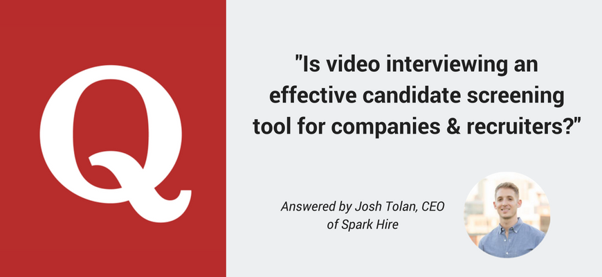 Video Interviewing Screening Tool Quora Question