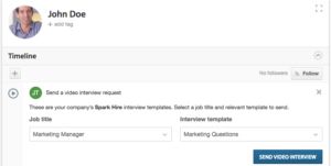 Send Spark Hire video interviews through Workable.