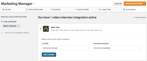 Set up Spark Hire video interview in Worjable
