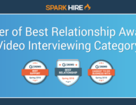 Spark Hire Wins Best Relationship Award - Video Interviewing