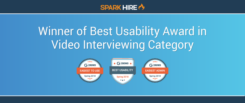 Spark Hire Wins Best Usability Award - Video Interviewing
