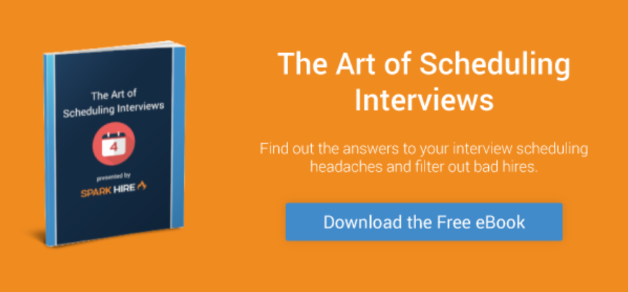 The Art of Scheduling Interviews, video interview