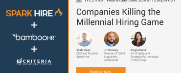 Register for Companies Killing the Millennial Hiring Game