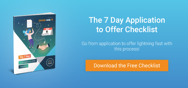 The 7 Day Application to Offer Checklist, video interviews
